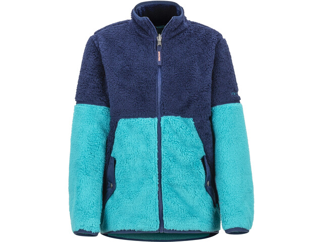 Marmot Lariat Fleecetakki Tytöt, blue tile/arctic navy